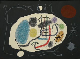 Le Lezard aux Plumes d\'Or (plate 6 from the portfolio of 15 lithographs of the same name) , Joan Miró