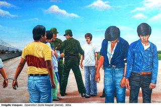 Operation Gate Keeper (detail), Emigdio Vasquez