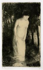Baigneuse pres d\'un bois, Camille Pissarro (1830 - 1903)