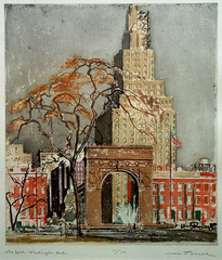 New York: Washington Arch,Max Pollak (1888 - 1970)