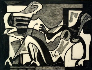 Venus & Adonis, Charles Quest (1904 - 1993)