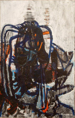 Untitled abstract expressionist oil, Deborah Remington