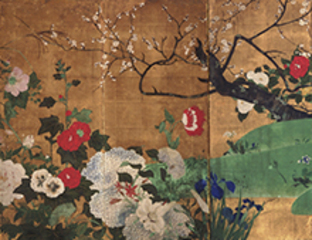 Flowers of the Four Seasons (detail), Saitō Ippo