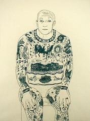 Tattooed Man, Beth Van Hoesen (1926)