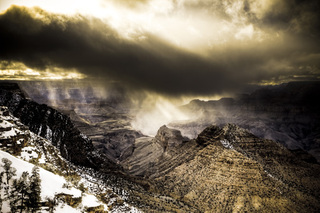 Grand Canyon Snow Storm #7, David Mayhew