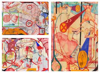 103°C Yellow Fever (Triptych), Zakkir Hussain