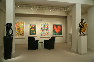 Jim Dine at 75: Classic Symbols installation at Meyerovich Gallery,