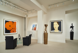 Sultan, Bruskin, Dill and Katz installation at Meyerovich Gallery, Alex Katz, Donald Sultan, Guy Dill, Grisha Bruskin