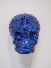 Blue Sequin Skull,Evan Dent