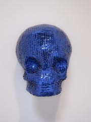 Blue Sequin Skull, Evan Dent