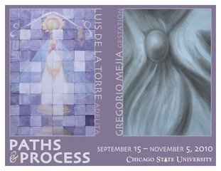 Paths and Process postcard, Luis De La Torre, Gregorio Mejia