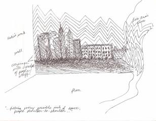 sketch for Make Room installation, Natalie Lanese