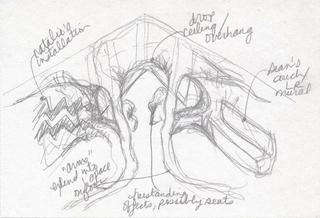 sketch for Make Room installation, Beth Ann Morrison