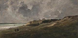 Rotsen bij Villerville-sur-mer, Charles-François Daubigny
