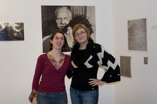 , Chantal Riekel french artist with owner Krisztina Fazekas