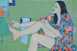 """Sara Vanderbeek in her bath closet"",Hope Gangloff"