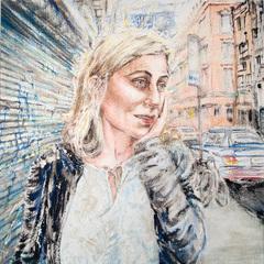 Eva Davidova, Orchard St., 2010, Asha Canalos