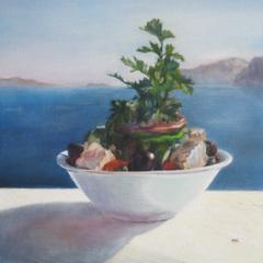 Santorini Still Life, Margaret Tcheng Ware