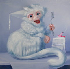 Anniversary Monkey (Cake Eater), Laurie Hogin
