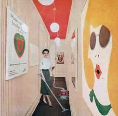 Vacuuming Pop Art, Martha Rosler