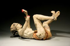 20100916055730-writhing_woman_with_wrap_and_red_fingertips_r-l-_bob_clyatt_sculpture