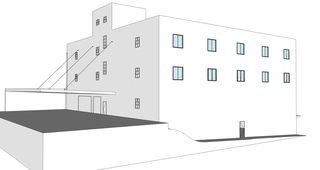 conceptual rendering by John Rees Architects,