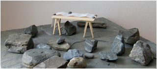 MODEL FOR STONES AND MAP 080401,Mayumi Terada