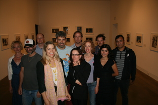 OCMA curator Sarah Bancroft and a few of the 2010 CA Biennial artists,