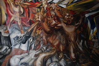 "Muerte al Invasor (""Death to the Invader"") - Chilean wall,Isabel Rojas-Williasms ""Siqueiros, a muralist in exile"""