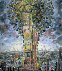 Self Portrait as Sky Scraper,Julie Heffernan