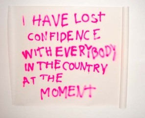 I have lost confidence, Julieta Aranda