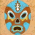 Blue_and_brown_luchador_with_floral_pattern
