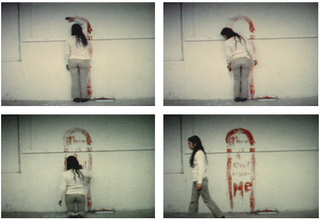 Film stills from Untitled (Blood Sign #1), Ana Mendieta