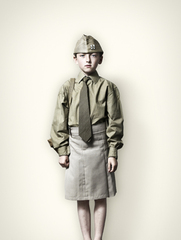 Girl in US Millitary Uniform, Jim Naughten