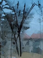 Tree for Iceland; Small Glass Painting, Ellen Mandelbaum