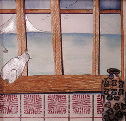 Cat and Vase, Karen Neiman