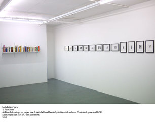 5 Foot Shelf (installation view),Alan Brooks