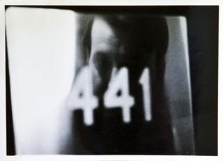 "Selfportrait, reflexion in ""441"", Björn Lövin"