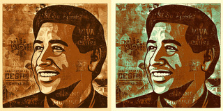 Cesar Chavez print based on a fine art piece Montejano created for the Manifest Hope exhibition, Ernesto Yerena