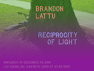 Exhibition invitation,Brandon Lattu