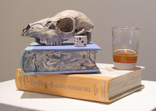Still Life with Skull and Glass, Richard Shaw