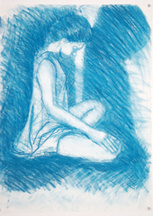 Blue Drawing, Homer Yost