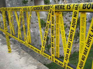 There is No Border Here (installation view at La Cabaña Fortress, Havana Biennial),Shilpa Gupta
