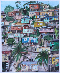 Hillside Houses, Mary Ciofalo