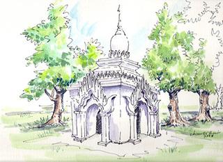 September Sweetness (artist preliminary sketch), R. Streitmatter-Tran, Chaw Ei Thein