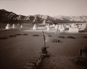 Prayer Flag and Chortens, Ladakh, India, 1988,