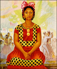 Untitled (Seated Mexican Women [Tehuana]), Miguel Angel Covarrubias