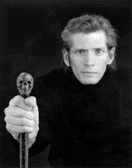 Self-portrait, 1988 gelatin silver print image: 22 3/4 x 19; frame:28 1/4 x 24 1/4 x 1 3/4 Lender: RMF, Robert Mapplethorpe