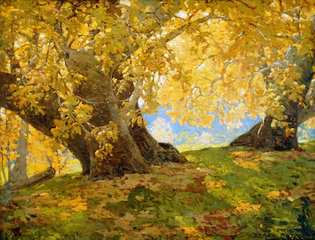 Sycamore in Autumn, Orange County Park, Edgar Payne