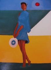 menina de azul, John Day